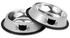 Stainless Steel Pet Cat Bowl Kitten Puppy Dish Bowl 2 Pack