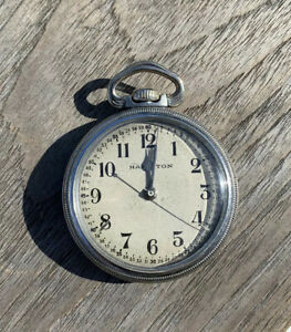 Hamilton 4992B 16s, 22j, WWII Military Pocket Watch Excellent Condition c.1941