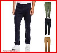 LEE pantaloni da uomo chino slim fit elasticizzati eleganti invernali fustagno