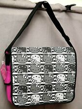 Hello Kitty Messenger Bag Black Pink Laptop Book Bag new with tags msrp $50