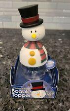 Adorable Snowman Bobble Topper for Wine/Liquor Bottles New
