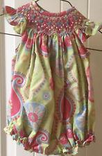 Baby Girls Bo Peep Smocked Bishop Bubblesuit Size 3 months