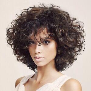 African female wig fluffy short curly hair female brown headgear