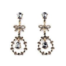 E810 Betsey Johnson Rhinestone Vintage Bridal Wedding Accessories Earrings US