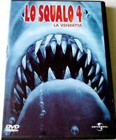 Dvd Lo Squalo 4 - La Vendetta 1987 Usato ed. italiana Raro fuori cat.
