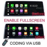 BMW Apple Carplay Split screen to Fullscreen CODING VIA USB