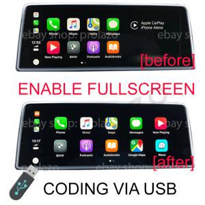 BMW Apple Carplay Split screen to Fullscreen CODING VIA USB