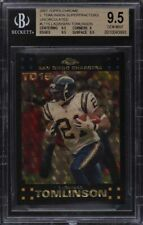 1/1 MASTERPIECE ladainian tomlinson 2007 topps chrome superfractor BGS 9.5 GEM