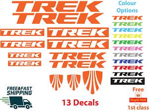TREK Bikes vinyl Decals Stickers Bike Frame, Mtb Cycling Bmx Car Road Van cycle