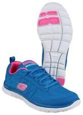 Scarpe da ginnastica blu marca Skechers per donna flex appeal