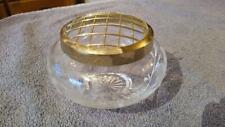 Glass pot pouri jar with gold lid