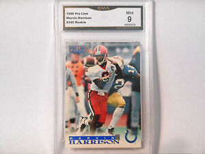 Marvin Harrison GRADED ROOKIE!! Mint 9!! 1996 Pro Line #342 Colts HOFer!! 9-2