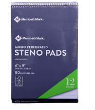Members Mark Steno Pad 6 X 9 12 Pack