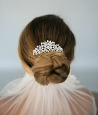 Vintage Inspired Wedding Bridal Crystal Rhinestone Hair Comb Art Deco