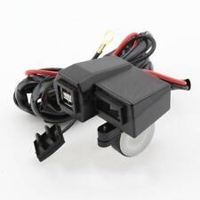 3.1A Dual USB Motorcycle Car Charger Socket Adapter Outlet LED Voltmeter 12V/24V