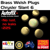 Brass Welch Welsh Freeze Core Plug Set Kit Fits Chrysler 6cyl Late Slant 6 - 6