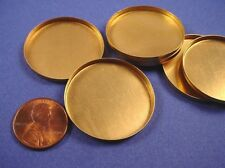 brass  Round Bezel Cups 30mm High Wall - 6 Pieces