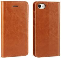 iPhone 8 7 Genuine Real Leather Wallet Case Classic Cover Credit Card Holder New