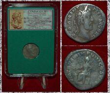 Ancient Roman Empire Coin COMMODUS Salus Emperor Gladiator Silver Denarius