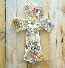 NWT Vintage Costume Jewelry Collage One of a Kind Cross Artwork Assemblage OOAK