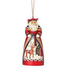 Jim Shore for Enesco Heartwood Creek Santa Reindeer Scene Ornament, 4.75-Inch