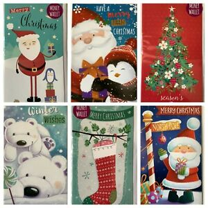 Christmas money wallets.. BUY 1 CHOOSE ANOTHER 2 FREE, JUST ADD 3 TO BASKET