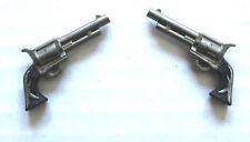 """LONE RANGER CUSTOM GUNS FITS GABRIEL MARX 12"""" HARTLAND COWBOY WESTERN  FIGURE"""