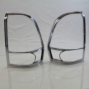 Pair Putco 400818 Chrome Trim Tail Light Covers Fits 05-09 Trailblazer 05-06 EXT