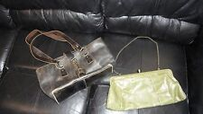 2 HOBO INTERNATIONAL  Bags Brown Distressed & Olive Green Large Clutch SALE!
