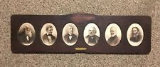 American Fireside Poets Antique Victorian Portraits In Long Decorative Frame