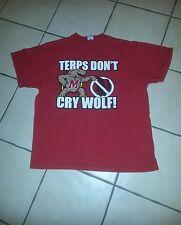 """T-Shirt; XL; LOGO:---""""TERPS  DON'T CRY WOLF!"""";cute logo-cute mascot"""