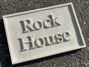 """stone House Sign Deeply Relief Engraved 12""""/8"""""""