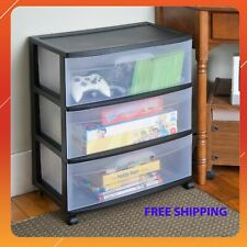 3 Drawer Wide Cart  Storage Box Home Organizer Room Cabinet - Free shipping