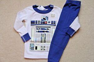 NWT HANNA ANDERSSON Star Wars Glow In The Dark Long John Pajamas VADER 80 18 24