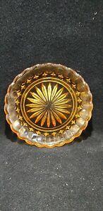 Vintage Pressed glass orange dish 22 cm diameter