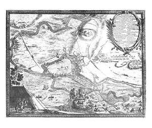 Antique map, Demminum a foederatorum casareanorum …