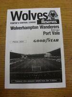 04/01/2000 Wolverhampton Wanderers Reserves v Port Vale Reserves  (4 Pages). Foo