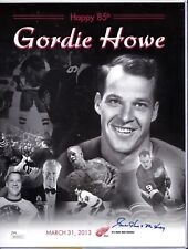 AUTO SIGNED GORDIE HOWE MR. HOCKEY  8 X 10 HAPPY 85th RED WINGS JSA CERT