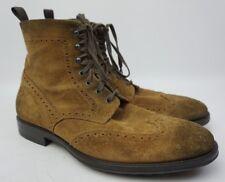 To Boot New York Braeden Mid Wingtip Boot Brown Suede Size 11.5