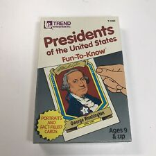 Trend Presidents of the United States Fun-To-Know Flash Cards 1992 T-1662