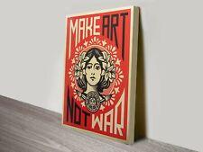 Reprint For MAKE ART NOT WAR Art Fabric Poster Print Wall Home Decor Multi