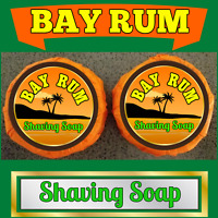 Bay Rum Scent 2 Pieces Lot Shaving Organic Soap Bars For Men - 100% Handmade
