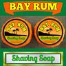 Bay Rum Scent 2 Pieces Lot Shaving Organic Soap Bars For Men - 100% Handmade