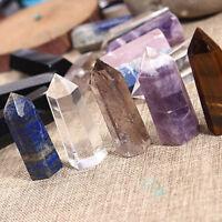 Natural Quartz Crystal Gemstone Point Healing Hexagonal Wand Polished Rare Stone