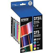 5 Genuine Epson 273XL BLK+Standard 273 cartridge set(no retail box)-XP620/XP820