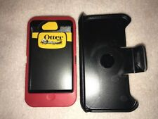 NEW Otterbox Defender Series case & Belt clip for Apple iPhone 4 / 4s Red