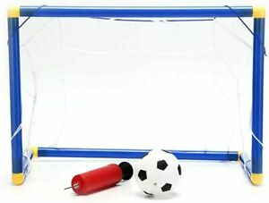 Indoor Outdoor Kids Child Football Soccer Goal Post Net ball Pump Whistle Toys