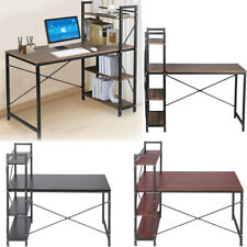 Computer Desk 120CM PC Laptop Table with 4 Layer Shelves Home/office Workstation