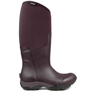 Bogs Womens Wellies Essential Light Tall Solid Wellington Boot Eggplant
