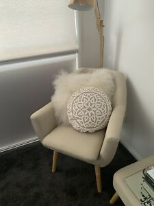 Pillow Talk Muse Range Frankie Occasional/Lounge Chair Cream Colour Polyester